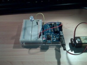 A first Arduino Experiment - flashing LED