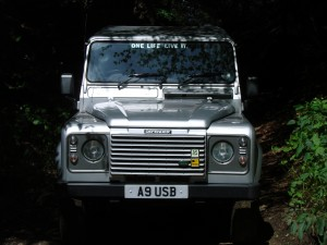 Landrover in the sunshine on Leith Hill